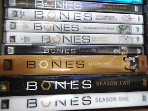 Bones seasons 1 to 8 all on dvd