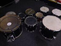 9 Piece drum kit, Premier & Ajax