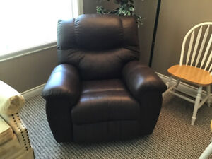 New leather recliner.
