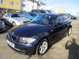 2008 BMW 1 Series 118 Hatch 5Dr 2.0d 143 SE 6 Diesel blue Manual