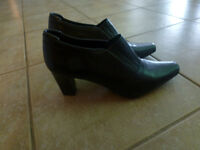 Size 10 Girl/Woman's black dress shoes (brand new)