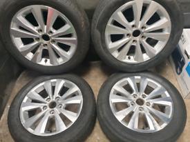 16 inch 5x112 genuine Volkswagen Golf alloy wheels.