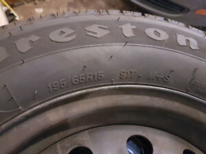 2 x 195/65R15 All Seasons + 4 rims