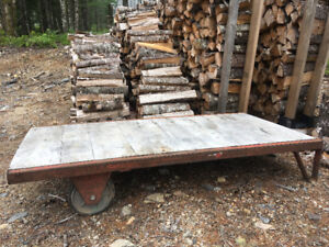 Wood and steel cart