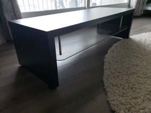 Black TV stand/coffee table/consolew/glass shelf
