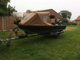 Aluminium 16ft fishing boat