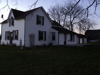 Spacious farm house, large lot, garage, great location for rent!