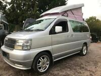 Nissan ELGRAND POP TOP 4 BERTH 5 SEATER FULL WIDTH BED 3.3 litre RUST FREE LPG
