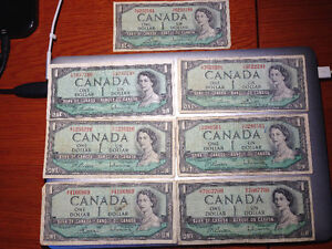 Lot of 1954 Banknotes West Island Greater Montréal image 2
