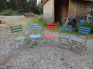 Vintage (almost antique) folding garden/patio chairs Yukon image 4