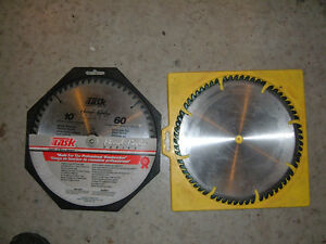 "SAW BLADES circular 10"" carbide tipped--- 2---REDUCED-$40.00"