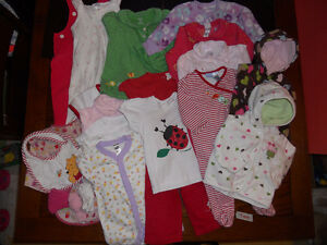 Bag of Baby Girl 9 month clothing (9 mon)