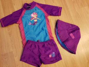 UV Skinz Girls 3 pc Bathing Suit - Size 6 (2 to sell)