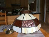 Lampe Tiffany avec joints en cuivre