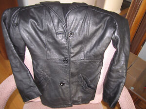 Real Leather Jacket-Black