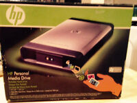 HP 500 GB USB 2.0 Desktop External Hard Drive BACKUP NIB