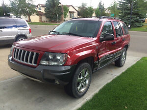 2004 Jeep Grand Cherokee SUV, Crossover for salvage or partsscra