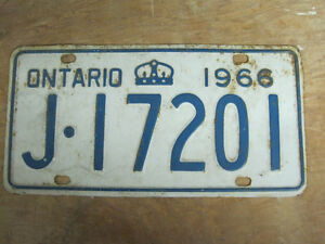 1966 Ontario License plate