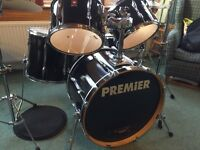 Premier cabria 5pc drum kit with cymbals and stool