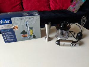 OSTER Stainless Steel Hand Blender with Cup and Chopper