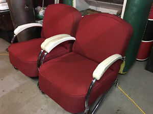 1930s Art Deco arm chairs