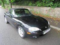 2004 '04' MAZDA MX-5 1.6i CONVERTIBLE IN BLACK ONLY 63,000 MILES