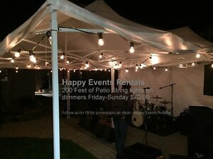 Patio String Lights on dimmer - Wedding - Party - Lighting Tents