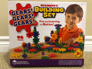 Learning Resources Gears! Beginner's Deluxe Building Set LikeNEW