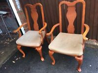 DINING CHAIRS CARVER BEDROOM CHAIRS **FREE DELIVERY **