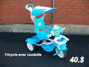 Jouets  Tricycle avec poignée   Vélo