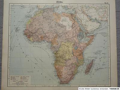 Landkarte von Afrika, Politische Übersicht, 1912 Herkt