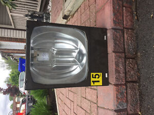 Heavy-duty, large floodlight ideal for commercial or industrial