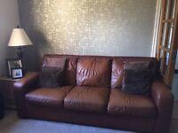 3 piece Italian leather sofa