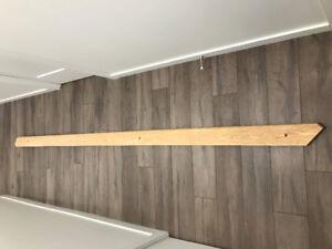 Main courante en chêne naturel 118 pouces rampe