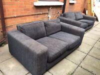 2 sofas- 2 seater and 3 seater