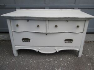 Antique Shabby Chic Lowboy Dresser