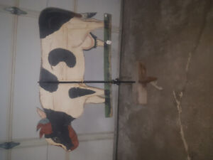dairy cow weather vane