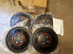 NEW REPLACEMENT  WHEEL COVERS $65. SET NEW HUBCAPS.