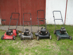 4 lawnmowers for sale