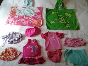 Girls Swimwear and Life jackets Size 2/3T