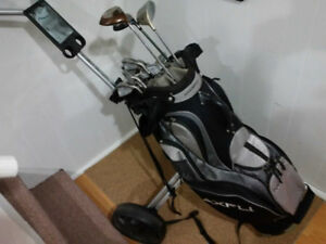 Golf Clubs, Golf Bag, Golf Cart