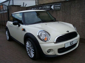 2011 MINI 1.6 FIRST 3DR WHITE BRAND NEW MINI WORX ALLOYS WITH NEW TYRES LOW TAX