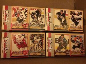 4, 08-09 OPC HOCKEY BOX BACK CARD PANELS INCL. KESSEL, MALKIN +