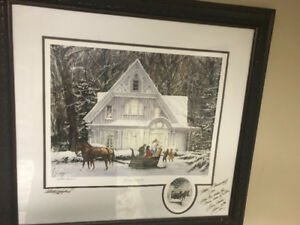 WTS Walter Campbell Victorian Christmas limited Edition Print