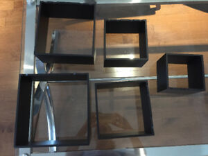 Cube wall shelves. Has 5 different sizes