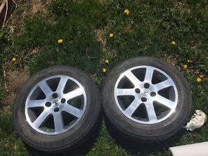Mint condition acura rims with tires !!