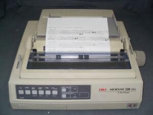 2 imprimantes matricielle oki pour factures (papier a trou)