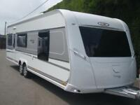 2017 LMC 695 VIP EXQUISIT,FIXED ISLAND BED WITH SEPERATE SHOWER CUBICLE CARAVAN