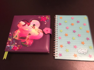 Girl's journal and note pad