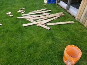 Fence boards 1×6×5 ft